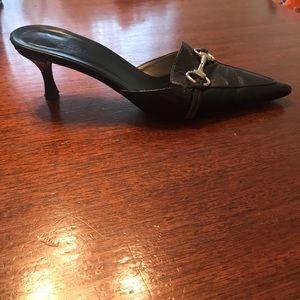 Vintage Gucci black mule heel